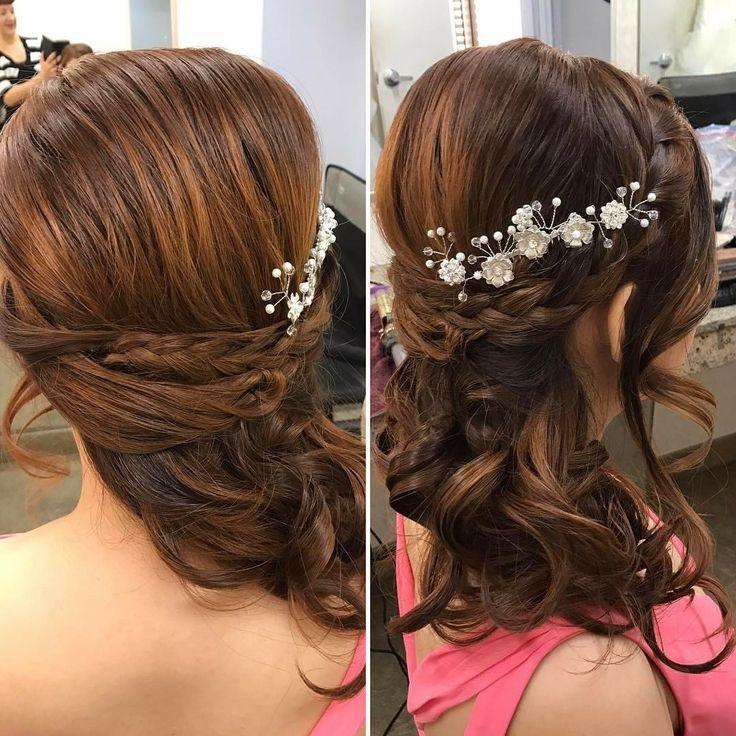 Bride Sera's hair #bridalhair #braidwithwaves #ocbridalhairmu #lisaleming #braidedsidedo