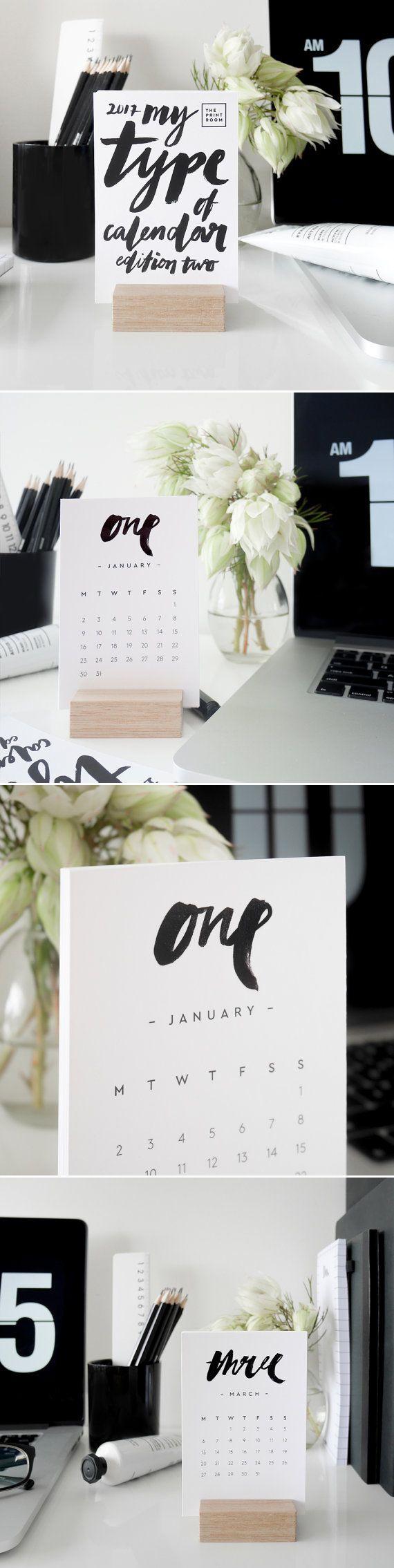 My Type of Calendar Edition 2 // 2017 Brush Type Desk Calendar | ThePrintRoomDesign
