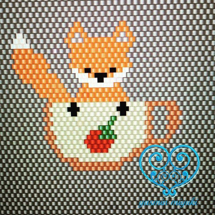 Bir küçük tilkicik daha   Designed by #yasminmiyuki .  .  .  .  #miyuki #handmade #gift #unique #uniquegifts #fashion #style #design #designer #takı #tasarım #moda #accessories #jewelry #fox #instagood #instalike #like4like #holiday #istanbul #sipariş #shop #shopping #nofilter