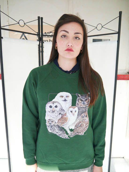 Wildlife Owl Collage jumper Owl sweatshirt  Owl sweater by WLCSHOP