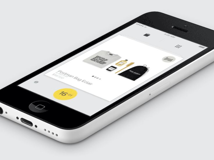 Menu Interaction for E-Commerce App | Motion Graphics in User Interface Design #UI