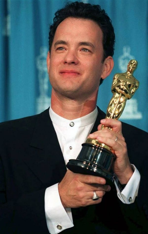 "1993 Best Actor Oscar winner Tom Hanks in ""Philadelphia"" and Best Actor Winner for ""Forrest Gump"" in 1994."