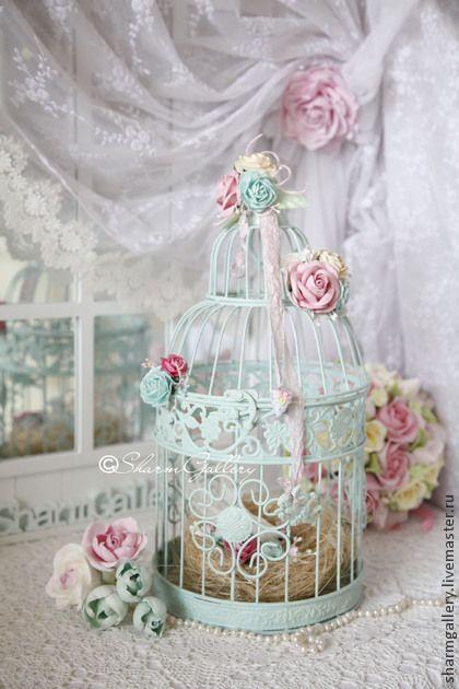 "Клетка ""Love Tiffany & Rose"", декоративная, интерьерная. Handmade."