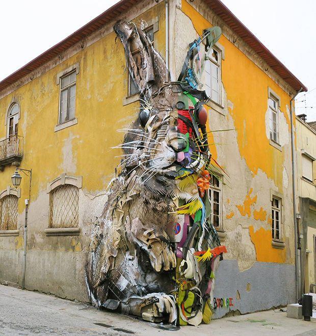 Trash Animals: Artista português cria incríveis esculturas realistas a partir de peças que estavam no lixo - Follow the Colours