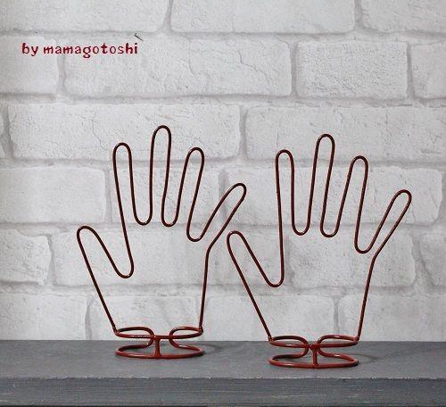 『手タレ&手型♪手編み手袋メンズ&レデ…』