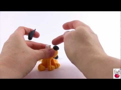 LETS CLAY. How to make polymer clay YELLOW DOG easily