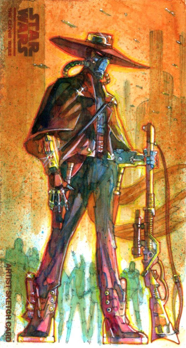 Mark McHaley Sketch Card Artwork (adding some cool Clone Wars' sketches)