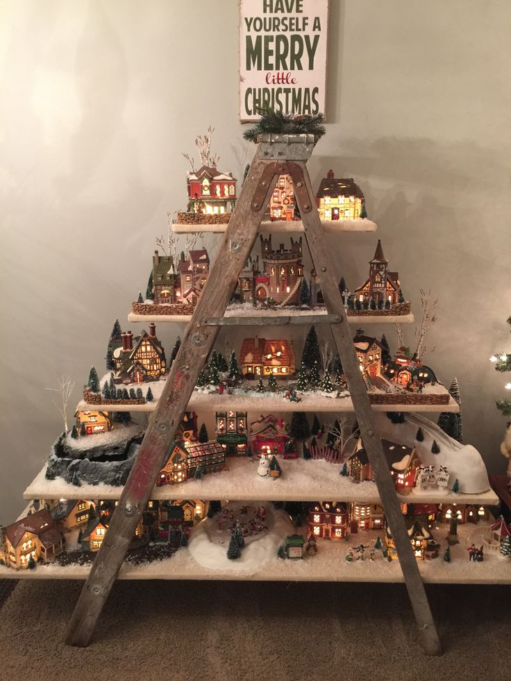 Dept. 56 Christmas Village Ladder Display