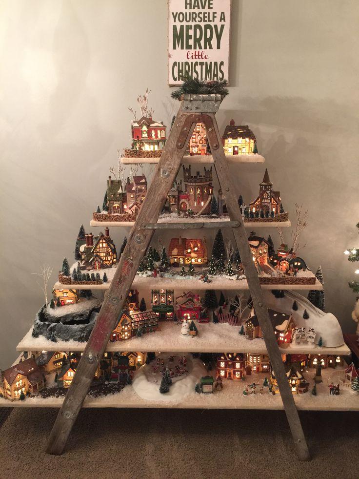 Dept. 56 Christmas Village Ladder Display