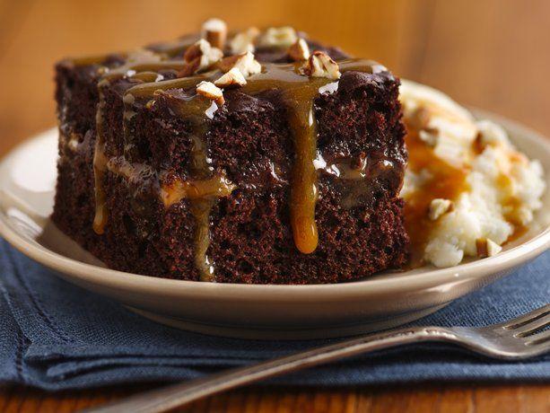 Chocolate Turtle CakeDesserts, Chocolates Cake, Chocolates Turtles Cake, Cake Recipe, Chocolates Chips, Cake Mixed, Food Cake,  Meatloaf, Favorite Recipe