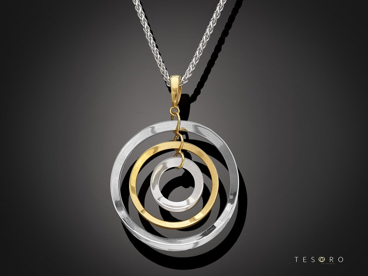 A beautiful two tone pendent from our new 2012 High Fashion Collection. Strictly limited to 12 of each. MADE IN ITALY
