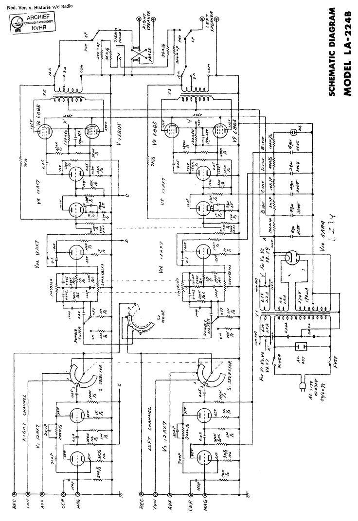 LAFAYETTE LA224B 4X6BQ5 STEREO AMPLIFIER SCH Service