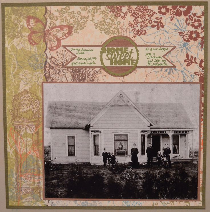 Building a house scrapbook layouts