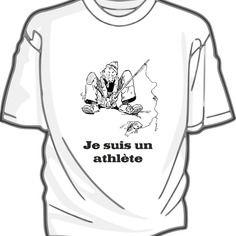 Je suis un athlète pêcheur - tee-shirt blanc coton pour homme