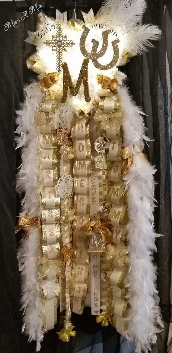 Triple Mega Homecoming Mum - Gold Senior with lights by MumAMia  Cy Ranch - Cypress