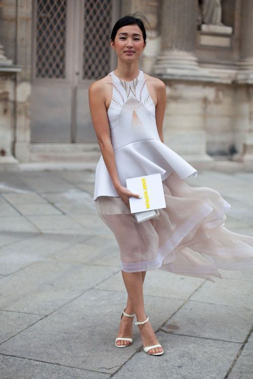 STREET STYLE SPRING 2013: PARIS FASHION WEEK - The blogger behind Gary Pepper Vintage is a proponent of white for always.