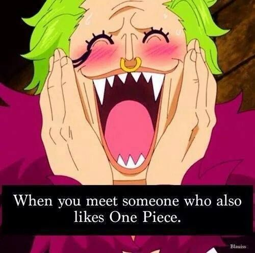 Omg so true I have a friend that watches one piece and I just found out like three days ago and this was the cycle of my faces:
