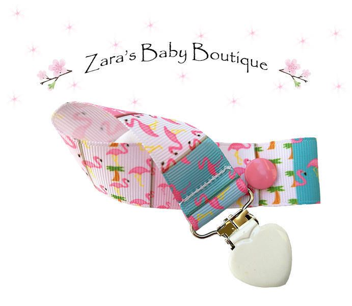 Flamingo Pacifier Clip * Dummy Clip * Pink Pineapple * Blue * New Baby * Toy Tether * MAM Dummy Clip * Baby Shower Gift by ZarasBabyBoutique on Etsy