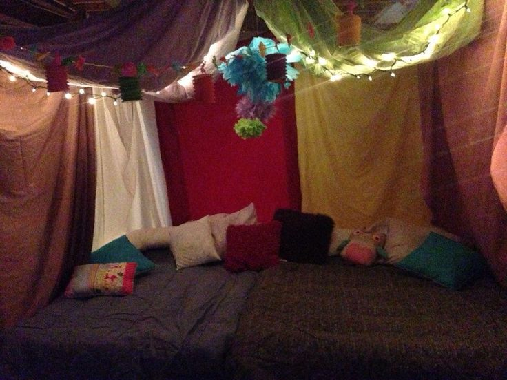 Slumber Party Tent I Made In Our Basement For My 13 Yr