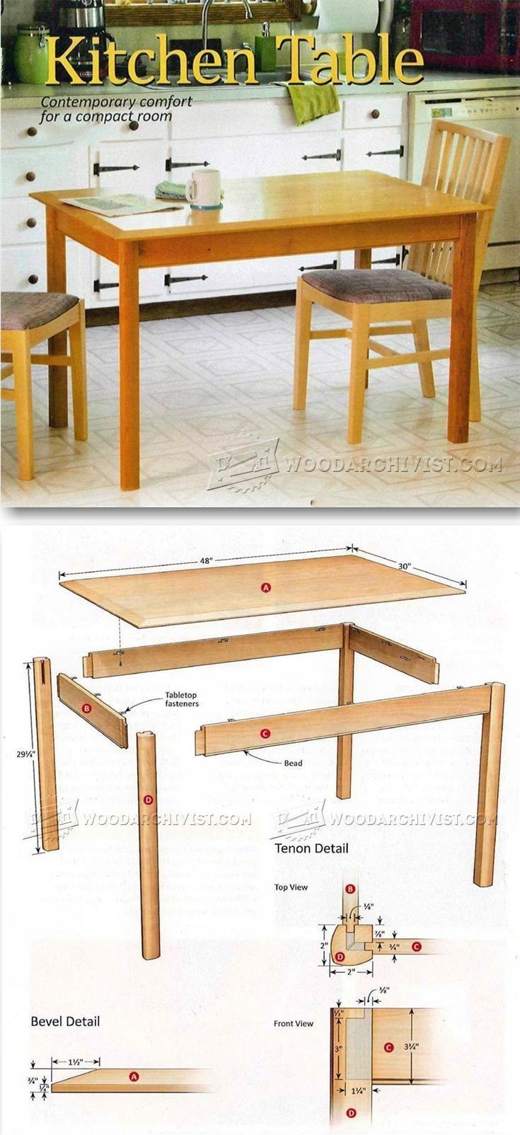 wood furniture blueprints. Kitchen Table Plans - Furniture And Projects   WoodArchivist.com Wood Blueprints
