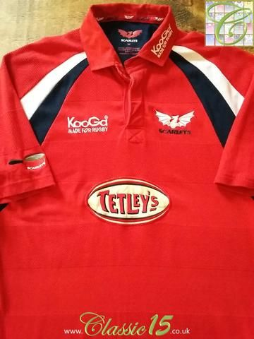 Relive Scarlets' 2003/2004 season with this original Kooga home rugby shirt.