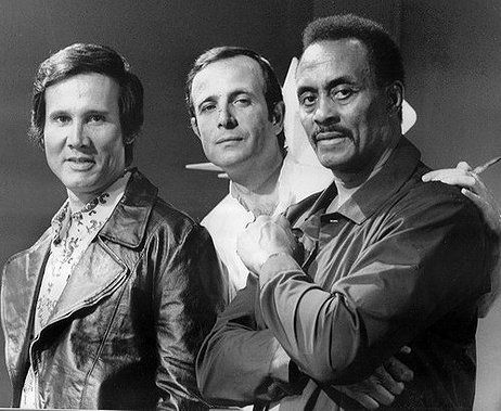 Di Leo between Henry Silva and Woody Strode