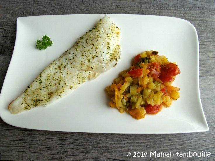 Filets de flétan au four sur son lit de petits légumes du soleil Maman Tambouille !