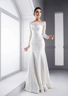 Роскошное кружевное свадебное платье с длинными рукавами (#08 V03), цена 25100 руб - фото | «Белый Авантаж»