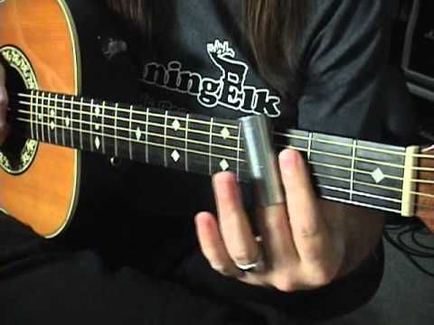 Quick Licks Slide Acoustic Guitar In G Standard Tuning By Scott Grove - YouTube
