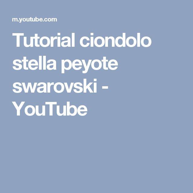 Tutorial ciondolo stella peyote swarovski - YouTube