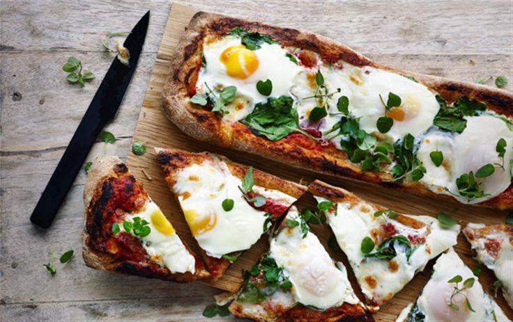 Sådan laver du morgenmadspizza