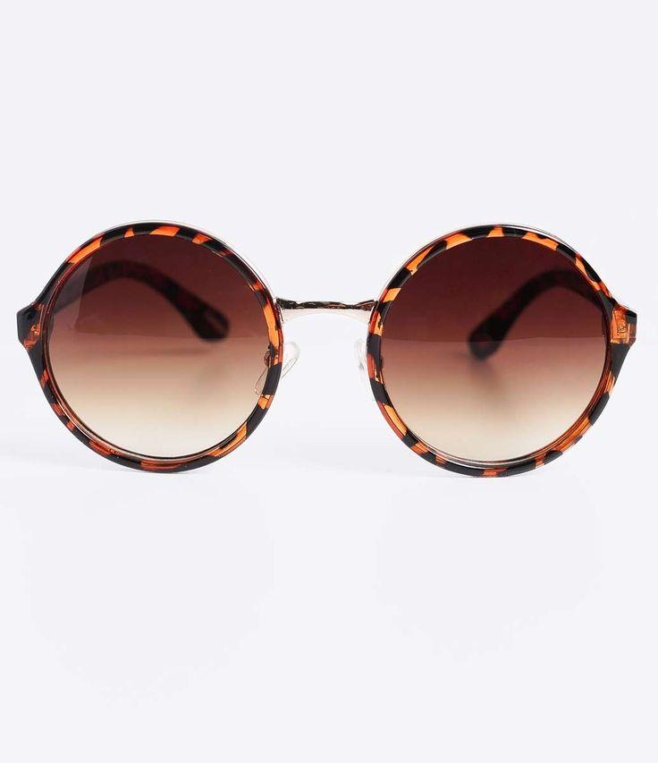 Óculos de Sol Feminino Redondo  - Lojas Renner