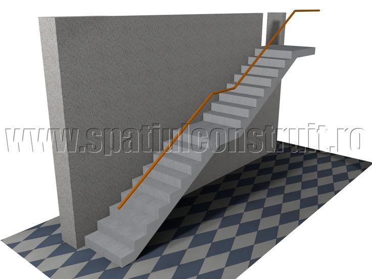 Staircases: general concepts & classifications/ Scari: notiuni generale, clasificari >> Intermediate landing staircase/ Scara cu doua rampe, cu podest intermediar