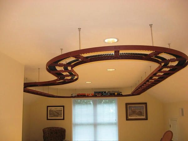 Ceiling Train Track For A Little Boys Room I Am Thinking