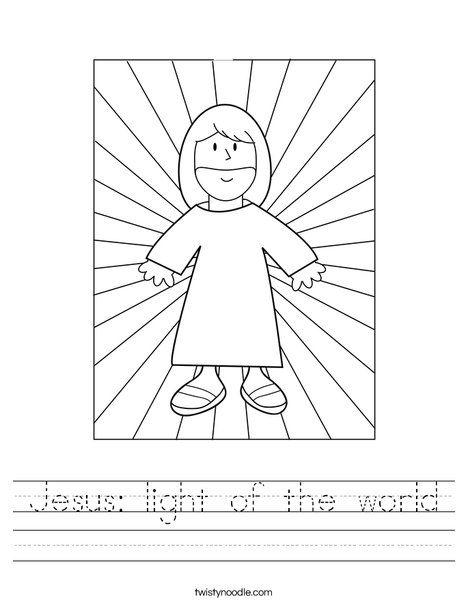 jesus light of the world worksheet twisty noodle