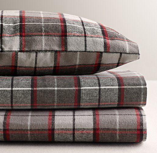Lodge Plaid Flannel Sheet Set - Winter Sheets!