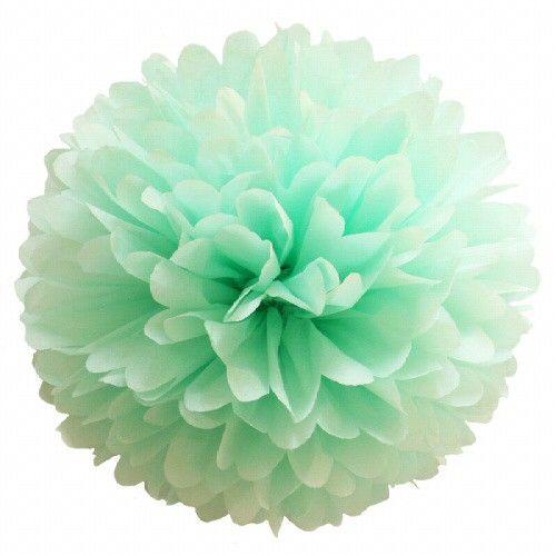 <p><strong>Pompom munt<br /></strong>Een prachtigepapieren pompom ter decoratie van je woon- of kinderkamer of als versiering bij geboorte, bruiloftenen feesten.<br />De pompoms worden geleverd met een eenvoudige instructie om uit te vouwen en te modelleren en nylondraad ommee op te hangen.<br /><br />Alle pompoms zijn met de hand gemaakt in een kleine pompom fabriek. Elk pompom isuniek en kan variren in afmetingen en vorm. De pompoms zijn gemaaktvan ecovriendelijke zijdevloei.<br />Je…