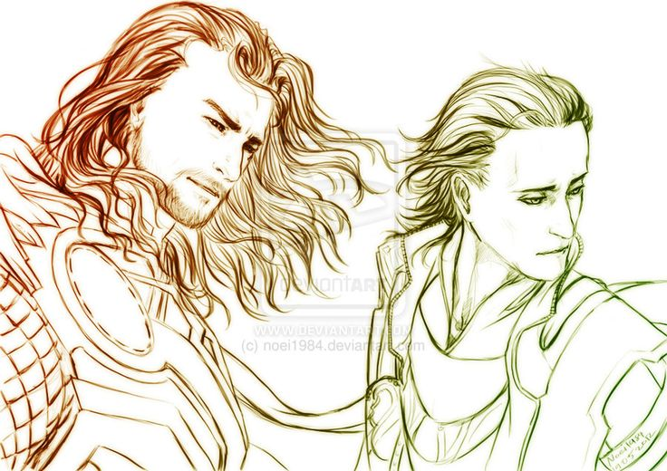 #Loki and #Thor:   M : Avengers : Brothers by *noei1984 on deviantART   Great fan art!