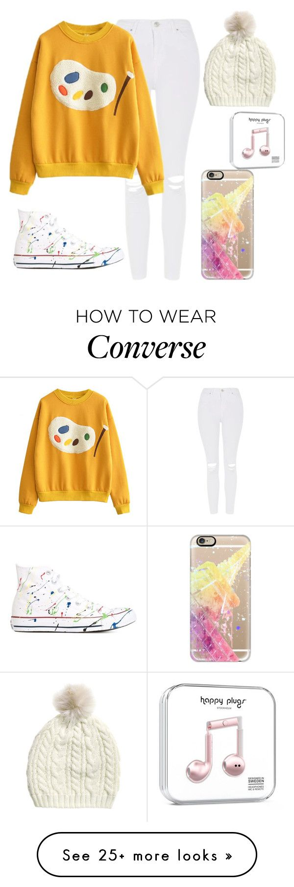 """Colors"" by aqua-green924 on Polyvore featuring Topshop, Converse and Casetify"