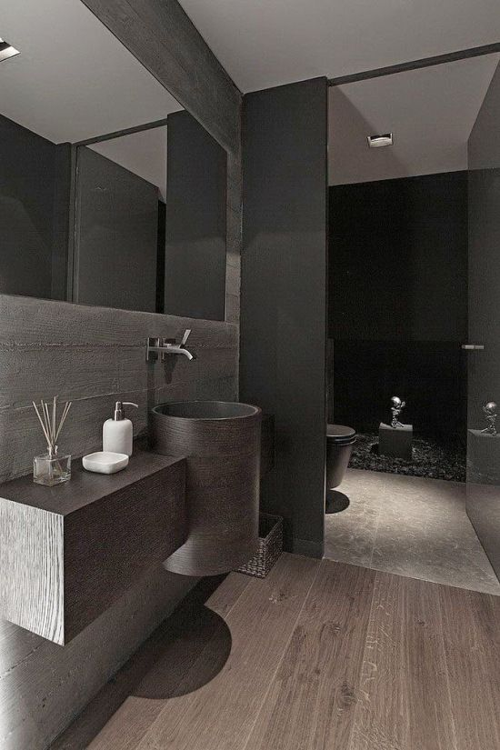 212 best images about bathroom on pinterest ceramics for Banos modernos negro