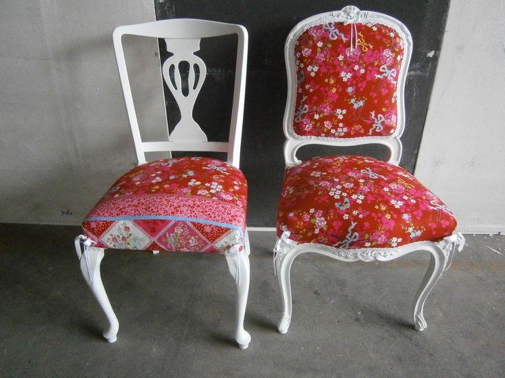 brocante barok stoelen ptt postzak stofferen landelijk | Woonhome.nl