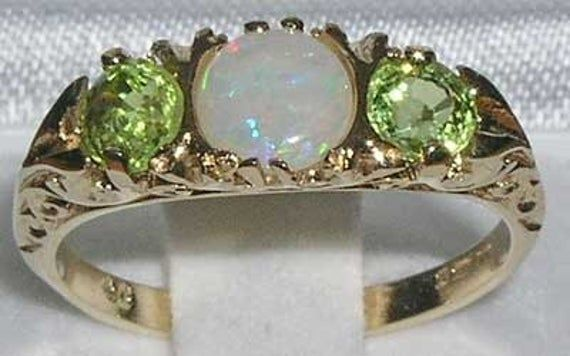 VINTAGE English design Solid Sterling Silver Natural Amethyst /& Fiery Opal Ring