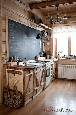 What an interesting rustic kitchen. There's something about this I love!