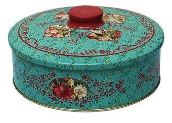 great retro round tin box froy