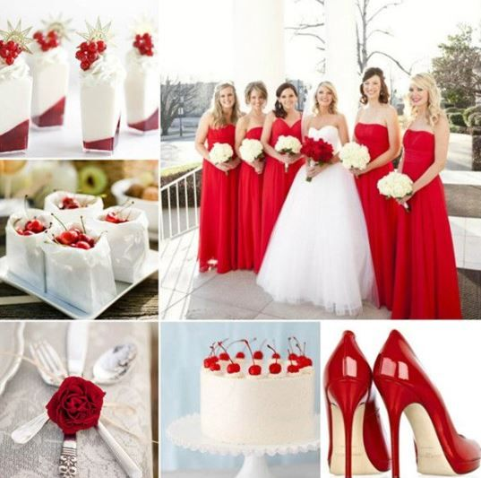 Marvelous 37 Sparkling Ideas For Red Themed Wedding