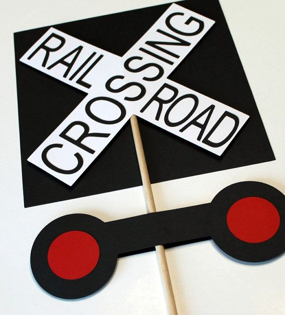 Train Birthday Party  Railroad Crossing Sign by mlewis117 on Etsy