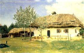 Ukrainian peasant house - Ilya Repin