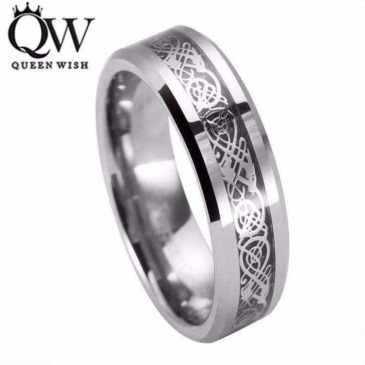 Queenwish Eternity Unique <b>Wedding Bands</b> Vintage Dragon ...