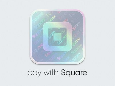 Pay with Square Branding  by Robert Andersen  // AWESOME hologram style