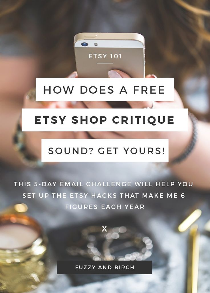 There is a formula for Etsy Success. And if you actually COMMIT to COMPLETING all the steps, this email program WILL boost your shop a little more every day! Click to get your free shop critique!
